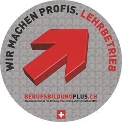 Logo von berufsbildung.ch: Wir machen Profis.Lehrbetrieb
